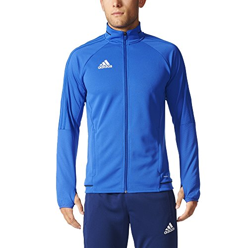 (Adidas Tiro 17 Mens Soccer Training Jacket M Bold Blue-Black-White )