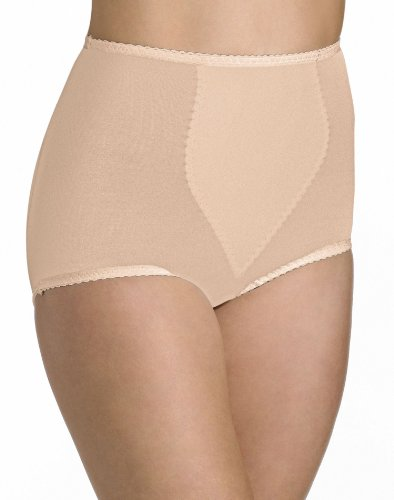 Bali Women's Shapewear Shaping Brief Ultra Control 2-Pack, Light Beige, (Ultra Firm Control Brief)
