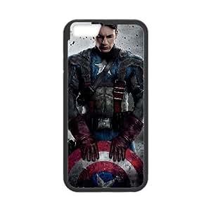 Capitán América iPhone 6 Plus funda de caso 5.5 pulgadas cubierta de la caja del teléfono celular Negro funda cubre EBDOBCKCO02308