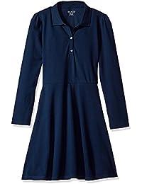 Girls' Uniform Long Sleeve Polo Dress