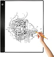 Entweg A3 LED Trace Light Box Pad Graphic Tablet 4mm Ultra-Thin Drawing Board Copyboard 3 Níveis Escurecendo c