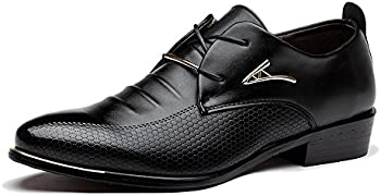 Blivener Men's Tuxedo Dress Shoes Fashion Oxford