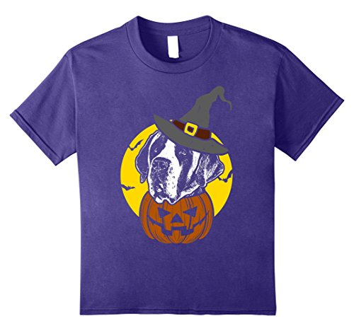 Saint Bernard Costumes (Kids Saint Bernard Pumpkin Tee Scary Halloween T Shirt 8 Purple)