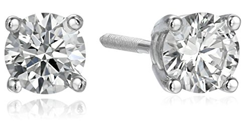 IGI Certified 14k White Gold Lab Created Diamond Stud Earrings (1/2 cttw, I-J Color, SI1-SI2 Clarity)