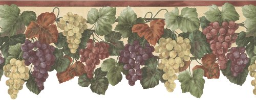 wall borders grapes - 1