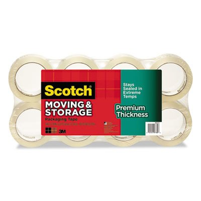 Scotch Premium Thickness Moving & Storage Packaging Tape, 1.88 Inches x 60 Yards, 8 Rolls (3631-54-8)