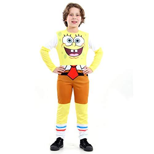 Fantasia Bob Esponja Infantil Sulamericana Fantasias G 10/12 Anos