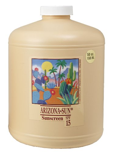 Oil Free Protectant Sunscreen (Arizona Sun - Sunblock SPF 15 - 50 oz - Sun Protection Lotion - Oil Free Sunscreen Cream - Face and Body Sun Screen - Sun Block for Outdoors -)