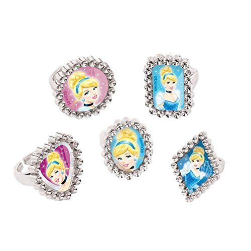 Disney Cinderella Silver Jewel Ring Birthday Party Accessory