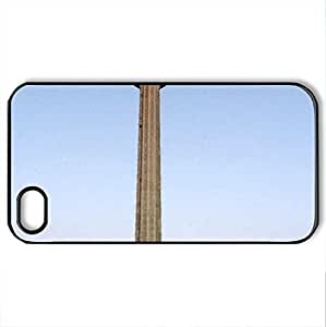 The Tower of the Americas - Case Cover for iPhone 4 and 4s (Modern Series, Watercolor style, Black)