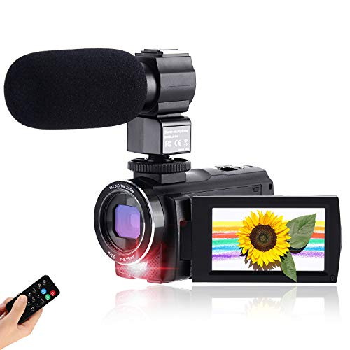 CofunKool Ultra HD 42MP Video Camera 1080P Camcorder 3.0 Inch 270° Rotation IPS Touch Screen YouTube Vlogging Camera with External Microphone Support TV USB Output