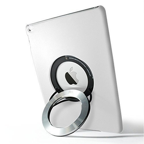 Aluminum Gloss Ring (iPad Air 2 Case, Rolling Ave. iCircle [Built-in Aluminum Ring Holder Stand] Multi Angle 90 Degrees Rotating Portable Stand Case for iPad Air 2 - White)