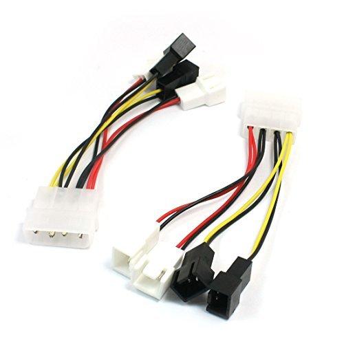 2 x 4 pin IDE maschio a 4x 2P maschio cavo adattatore per PC Computer Fan