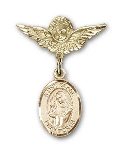 Icecarats Or Bijoux De Créateurs Rempli R. Claire D'Assise Pin Badge Charme D'Ange 1 X 3/4