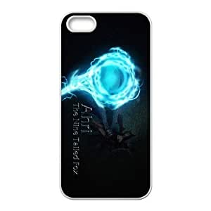 games Ahri Logo LOL iPhone 5 5s Cell Phone Case White 91INA91112866