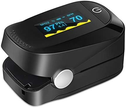 Haofy Oxímetro de Pulso, Pulsioxímetro de Dedo Monitor de Frecuencia Cardíaca y la Saturación de Oxígeno en la Sangre con Pantalla OLED, Aprobado por la FDA y la CE 3