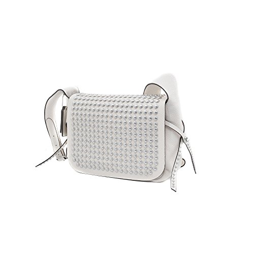 WR Cream 35764 Leather Coach Dakotah Flaps Rivets Crossbody HWzYU