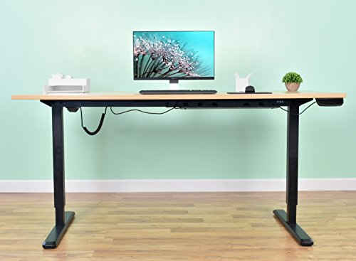 Vivo Black Electric Stand Up Desk Frame Workstation Single Motor