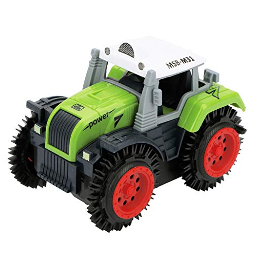 DDKK toys Amazon Exclusive High Speed Remote Control Off-Road Toy 2.4G Radio Remote Control Truck MonsterChildren Dump Truck Simulation 4 Wheels Drive Jeep Electric Stunt Toy Car