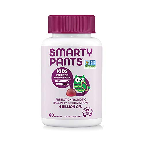 SmartyPants-Kids-Probiotic-Immunity-Formula-Daily-Gummy-Vitamins-Probiotics-Prebiotics-Boosting-Immunity-Digestive-Support-Vegan-4-bil-CFU-Grape-60-Count-30-Day-SupplyPackaging-May-Vary