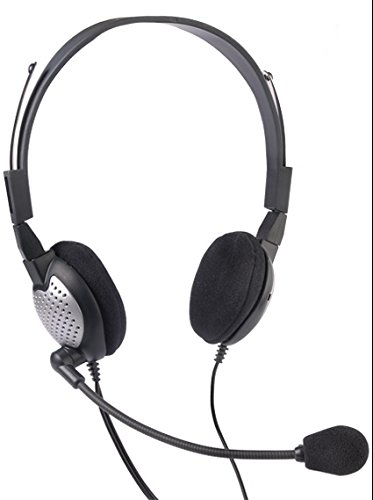 Andrea Communications C1-1022600-50 Model NC-185 VM USB High Fidelity Stereo USB Computer Headset with Noise Canceling Microphone and Volume/Mute CONTROLS