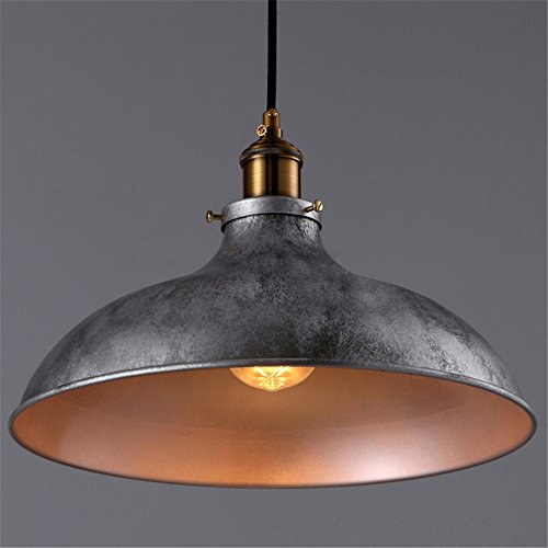 Baycheer Hl371906 Industrial Vintage Style Lid Shaped Pendant Lighting In Antique Silver Pendant