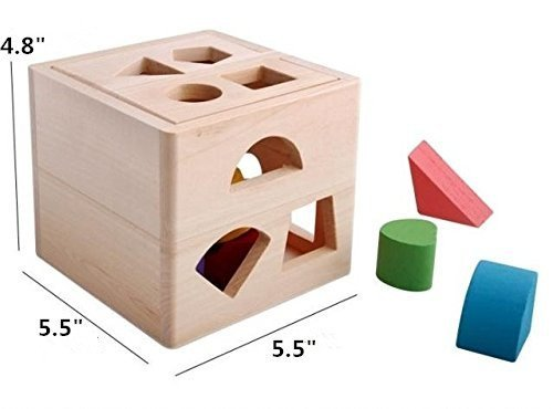 Cognitive and Matching Wooden Blocks Toys for Baby