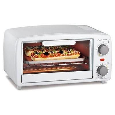 Proctor Silex 4 slice Toaster Oven, White New by Toaster Ovens