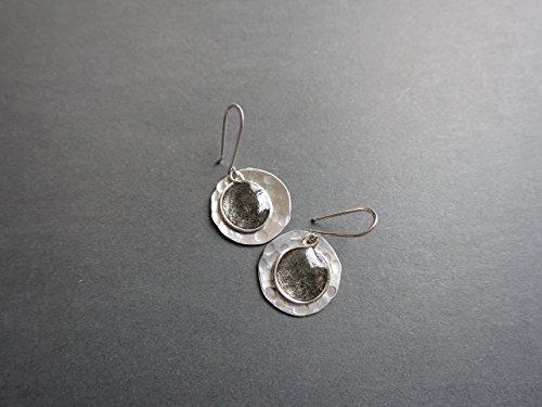Black resin drop earrings Beads by Bettina