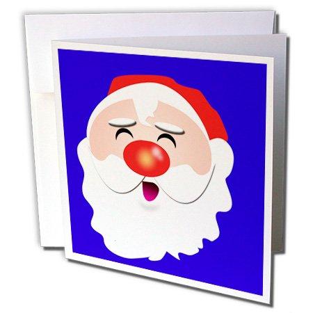Kris Kringle Christmas - 3dRose Cute cartoon Santa Claus Kris Kringle for the Christmas spirit - Greeting Cards, 6 x 6 inches, set of 6 (gc_31335_1)