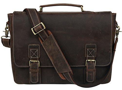 Adjustable 1.5' Shoulder Strap (BAIGIO Leather Laptop Briefcase Shoulder Handbag 16