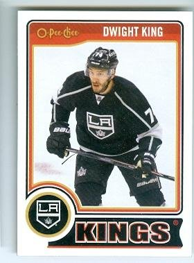 Dwight King hockey card (Los Angeles Kings Stanley Cup Champion) 2014 2015 O Pee Chee #93