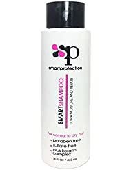 Ultra Moisture Shampoo Sulfate and Paraben Free 16oz for Keratin Treated Hair by Smart Protection