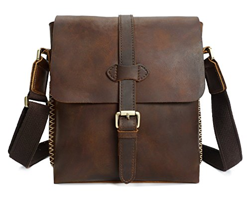 Handmade Layer Leather Bag Retro Messenger Men's Casual Crazy Of Brass First Horse Shoulder The av0wARwSq