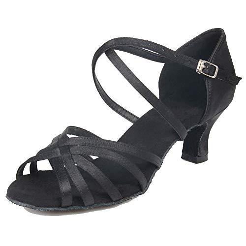 403 De Latino Zapatos Swdzm Baile estándar Modelo Wh Baile Negro Mujer 5 Ballroom vqnCCEwg