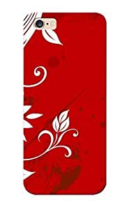 Fireingrass High-end Case Cover Protector For Iphone 6 Plus(leaf Red Grunge Vectors Floral Graphics ) by runtopwell