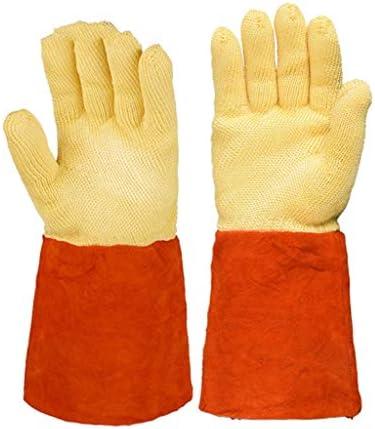 手袋 耐熱手袋工業用オーブン熱処理手袋250°C絶縁防水難燃カット/イエロー/L LMMSP