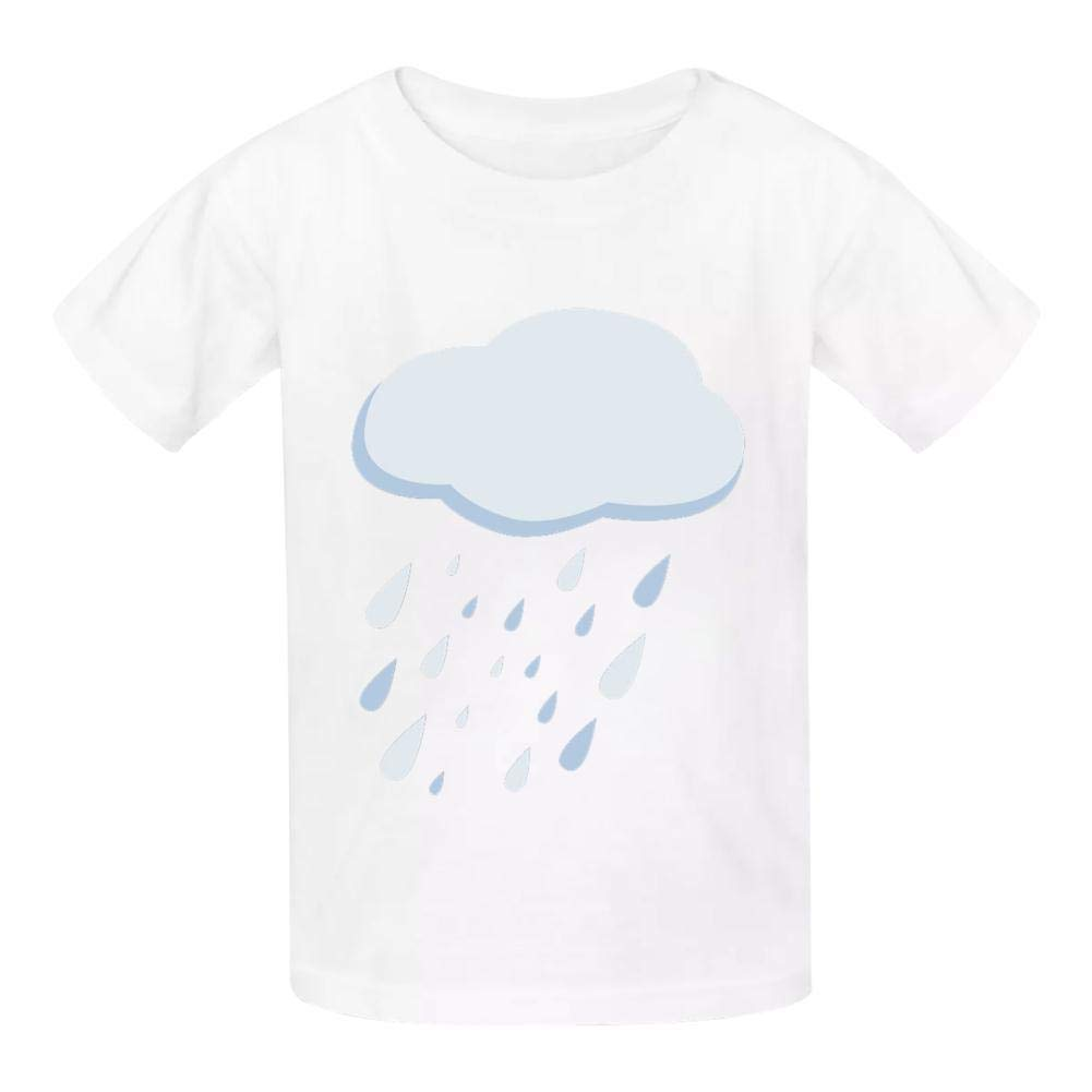 Raindrop Cloud Childrens Comfortable and Lovely T Shirt Suitable for Both Boys and Girls