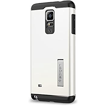 Spigen Slim Armor Galaxy Note 4 Case with Air Cushion Technology and Hybrid Drop Protection for Samsung Galaxy Note 4 2014 - Shimmery White
