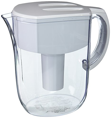 Brita Large 10 Cup Everyday Water Pitcher with Filter - BPA Free - White (10 Drinking Water Filter)