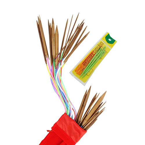 Agujas tejer circulares bambú 2-12 mm cable 100 cm pack 16