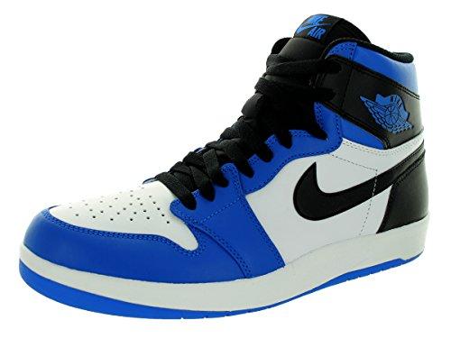 Nike Air Jordan 1 High the Return, Zapatillas de Deporte para Hombre Blanco / Negro / Azul  (White/Black-Soar)