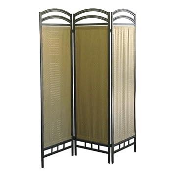 3 Panel Fabric Metal Screen Room Divider