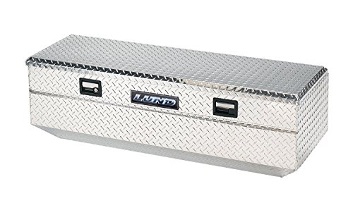 Lund 9447 48-Inch Aluminum Flush Mount Single Lid Truck Tool Box, Diamond Plated, Silver