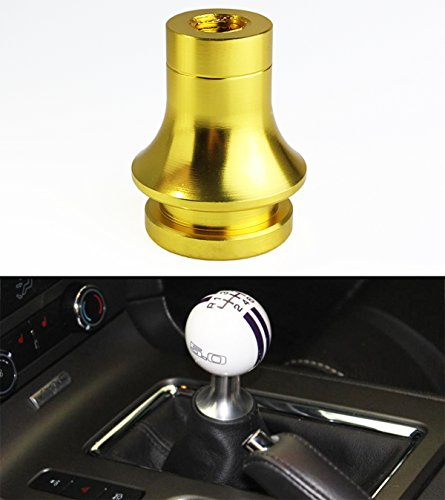 M10 X 1.25 THREAD SIZE ALUMINUM GEAR SHIFTER KNOB SHIFT BOOT RETAINER ADAPTER(GOLD) Aluminum Drive Shaft Retainers