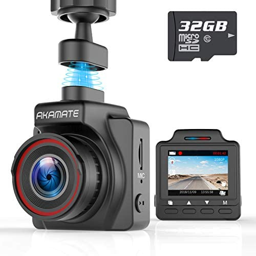 AKAMATE AMA000C1L Dash Cam, Magnetic Dashboard Recording Camera 1.5 Mini Dvr Car Full HD 1080P, 145 Wide Angle
