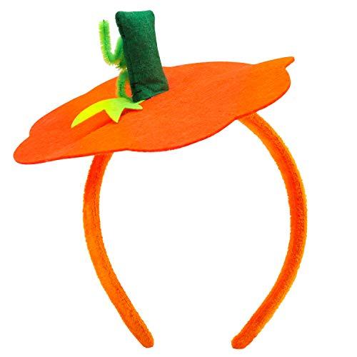 Pumpkin Stem Headband (Halloween Pumpkin Headband Halloween Costume - Halloween Dress Up Headband Pumpkin Headwear Pumpkin Headdress)
