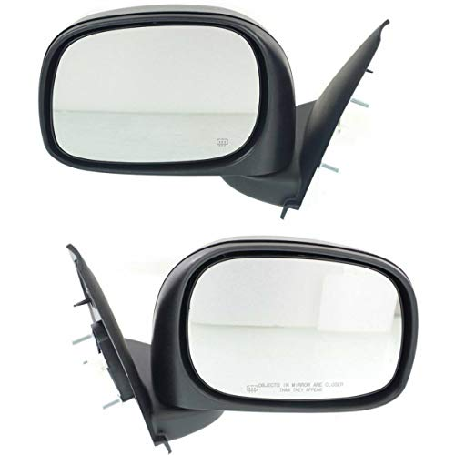 (Make Auto Parts Manufacturing Driver and Passenger Side Power Operated Heated Textured Black Door Mirrors For Dodge Ram 1500 2002-2009 / For Ram 2500 & Ram 3500 2002-2008 - CH1320215)