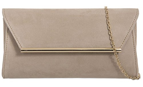 Nude Nude Suede Bag Clutch Bag Clutch Suede Faux Faux TwOqdxF