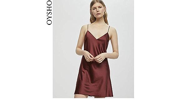 WXNLEAI Oysho rojo satinado cómodo versión corta con ...